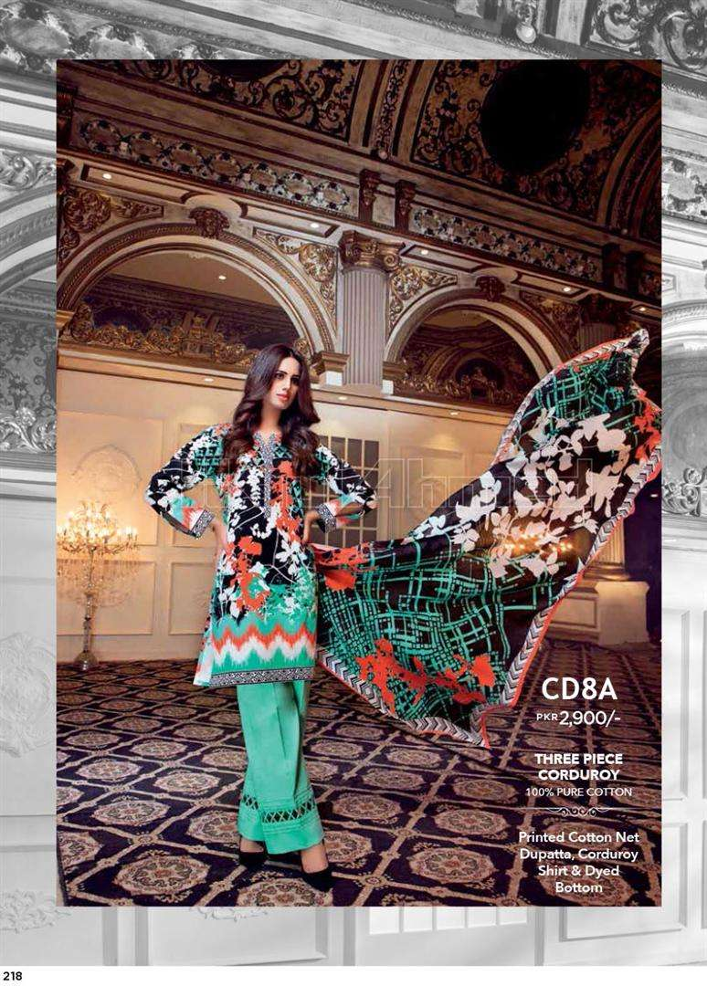Gul Ahmed Embroidered Linen Unstitched 3 Piece Suit GL17W CD8A