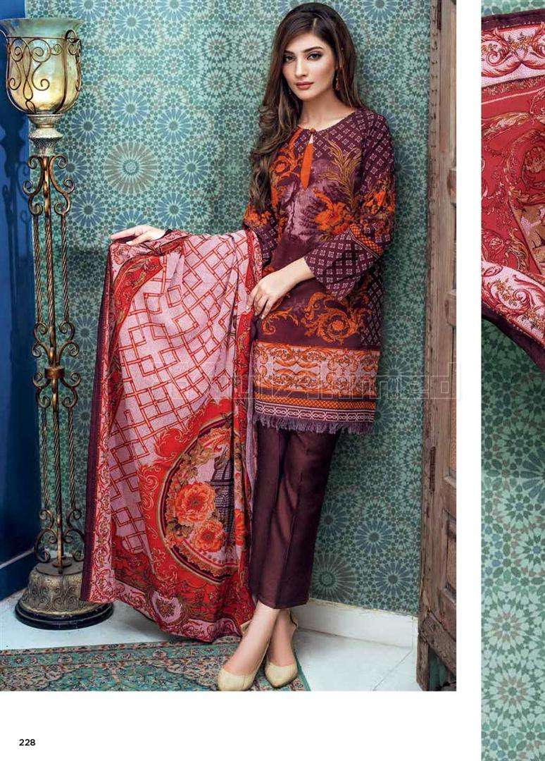 Gul Ahmed Embroidered Linen Unstitched 3 Piece Suit GL17W HDK4