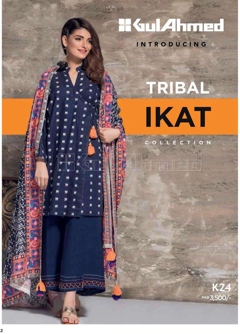 Gul Ahmed Embroidered Linen Unstitched 3 Piece Suit GL17W K24
