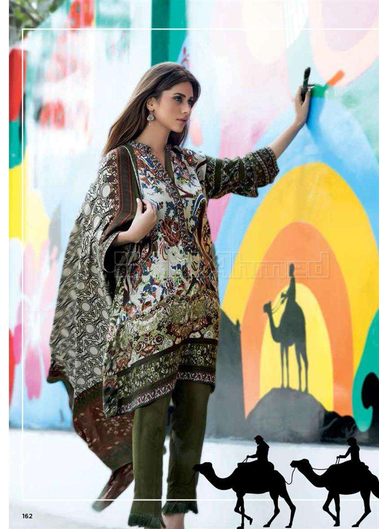 Gul Ahmed Embroidered Linen Unstitched 3 Piece Suit GL17W KV3