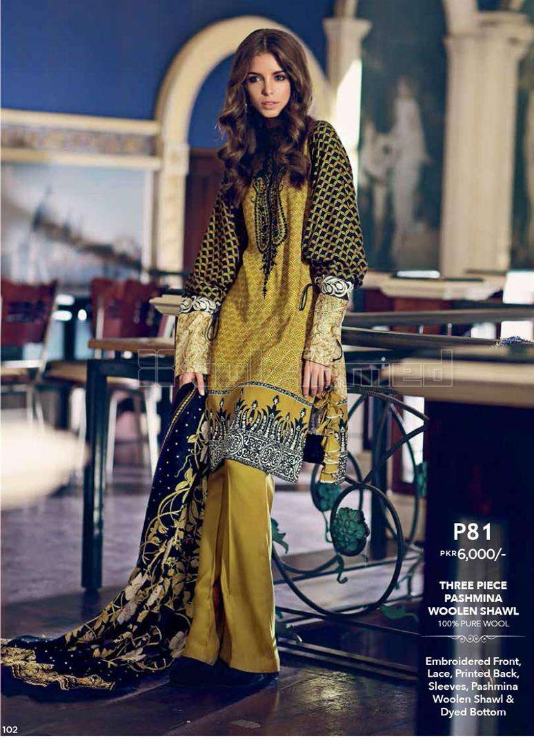Gul Ahmed Embroidered Linen Unstitched 3 Piece Suit GL17W P81