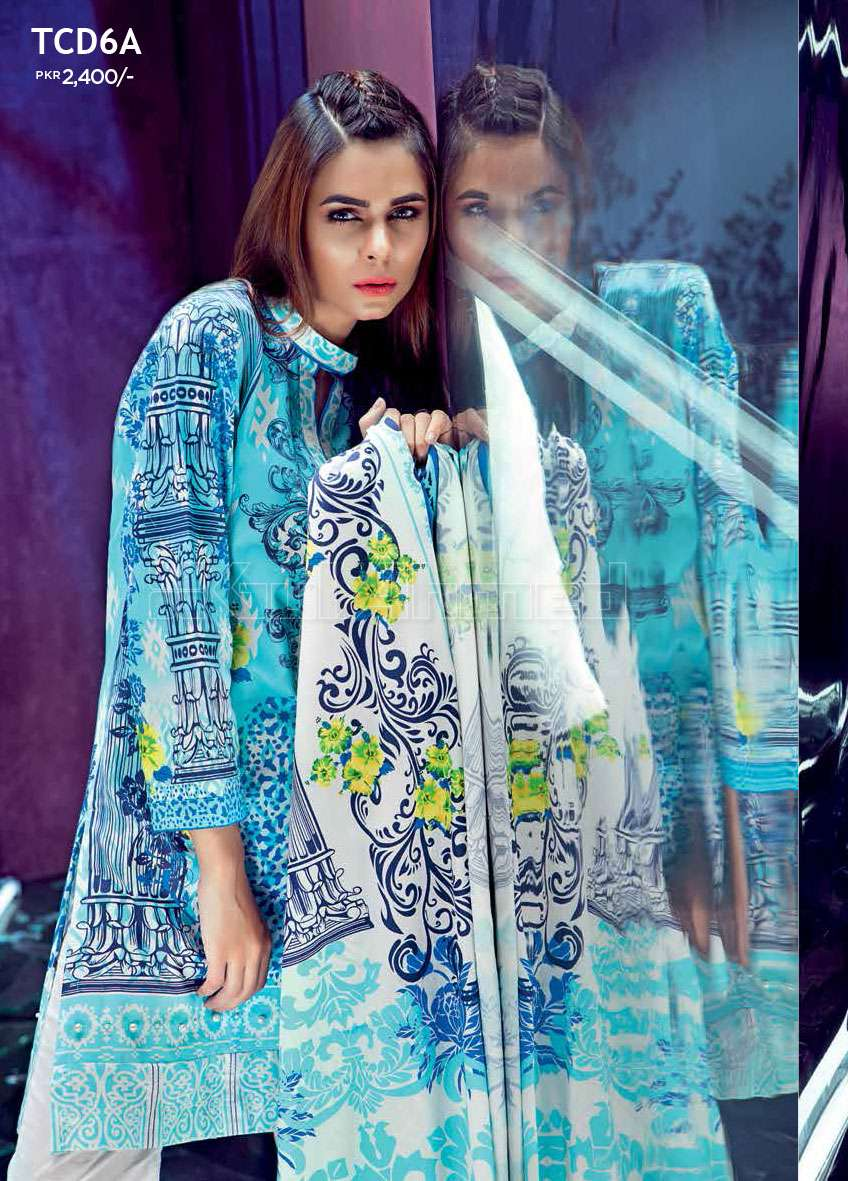 Gul Ahmed Embroidered Linen Unstitched 3 Piece Suit GL17W TCD6A