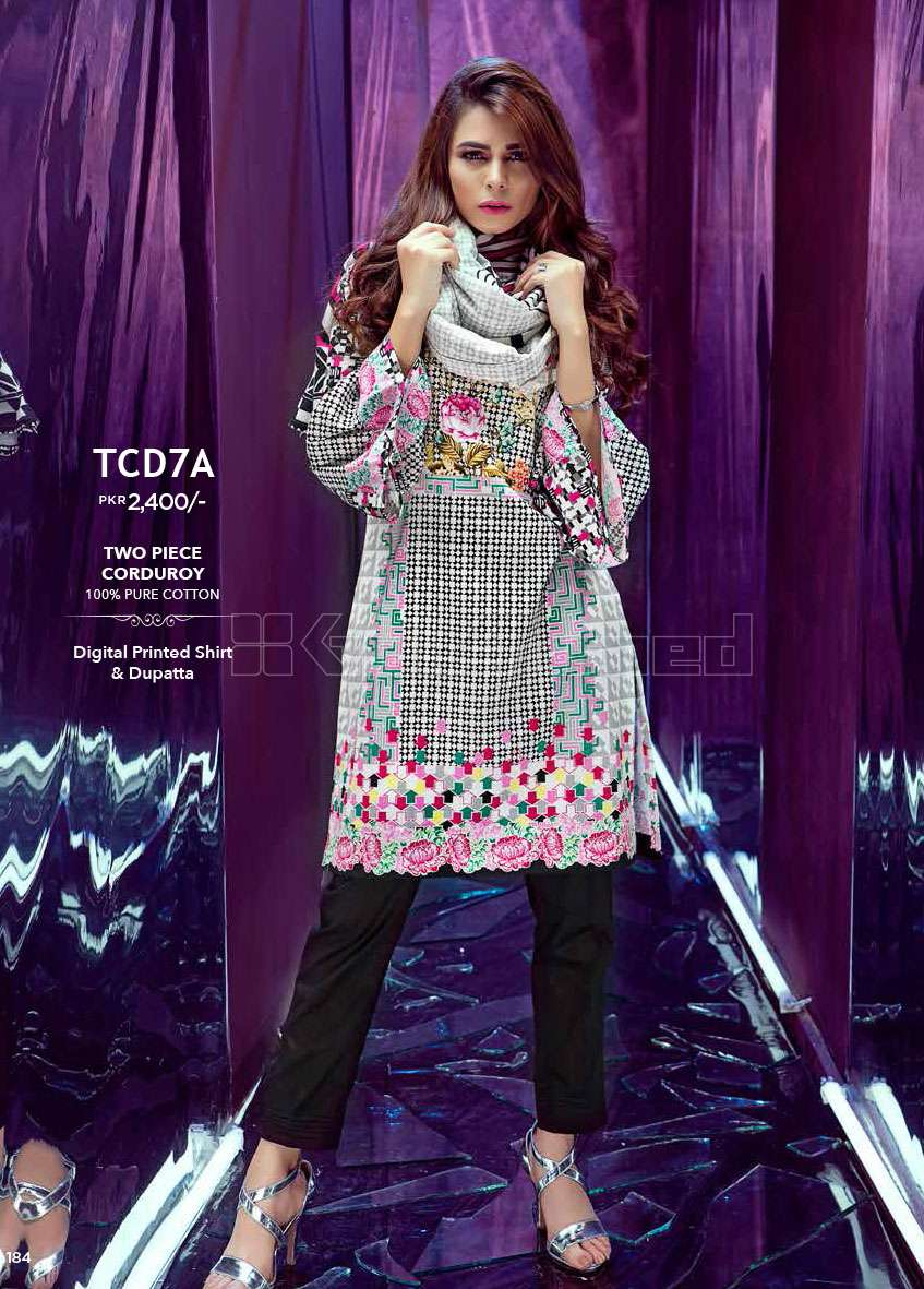 Gul Ahmed Embroidered Linen Unstitched 3 Piece Suit GL17W TCD7A