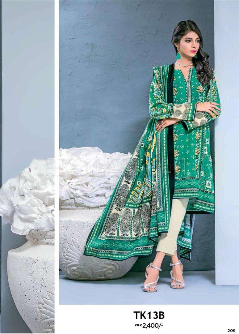 Gul Ahmed Embroidered Linen Unstitched 2 Piece Suit GL17W TK13B