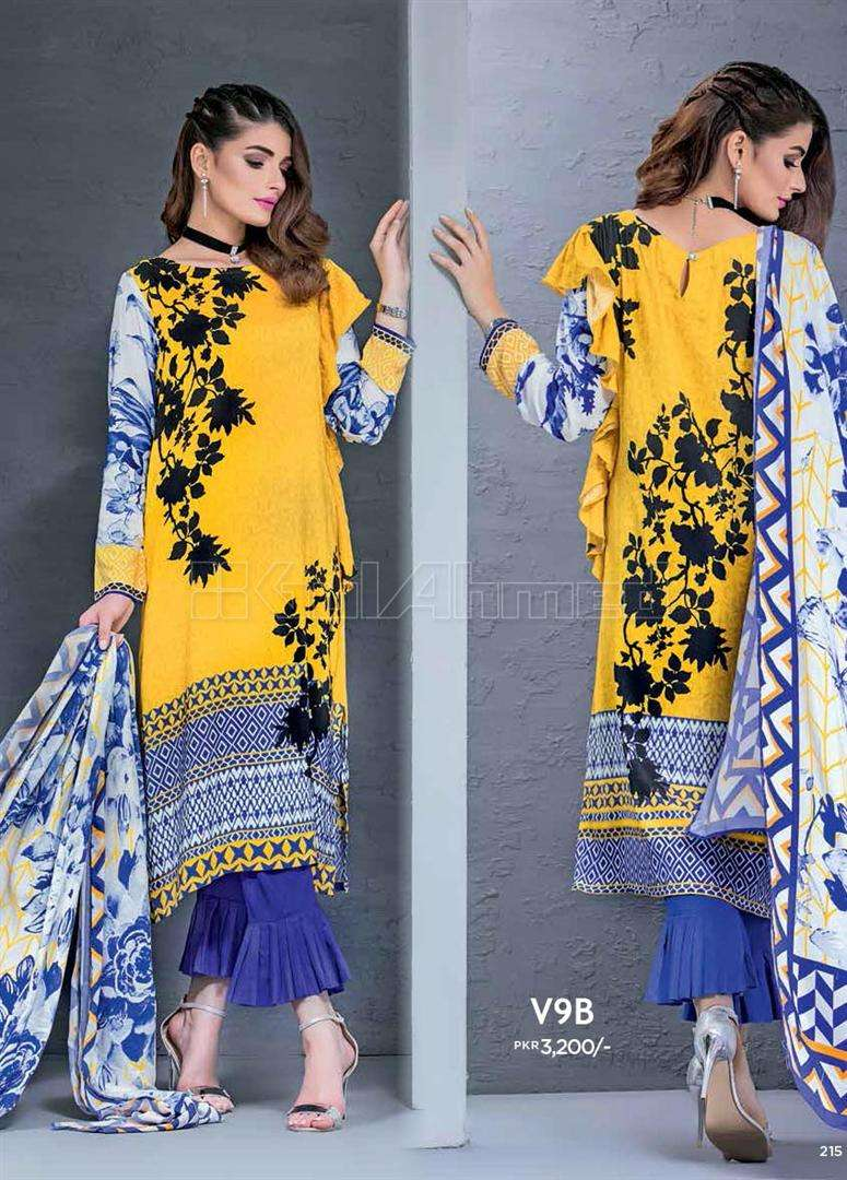 Gul Ahmed Embroidered Linen Unstitched 3 Piece Suit GL17W V9B