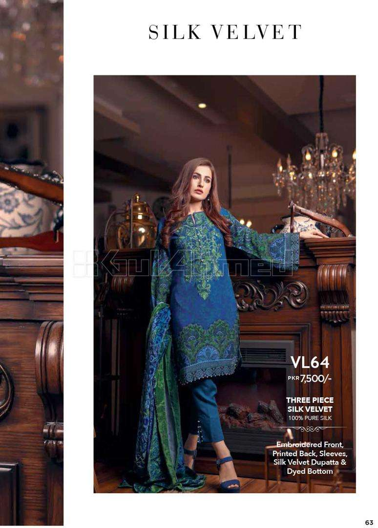Gul Ahmed Embroidered Linen Unstitched 3 Piece Suit GL17W VL64
