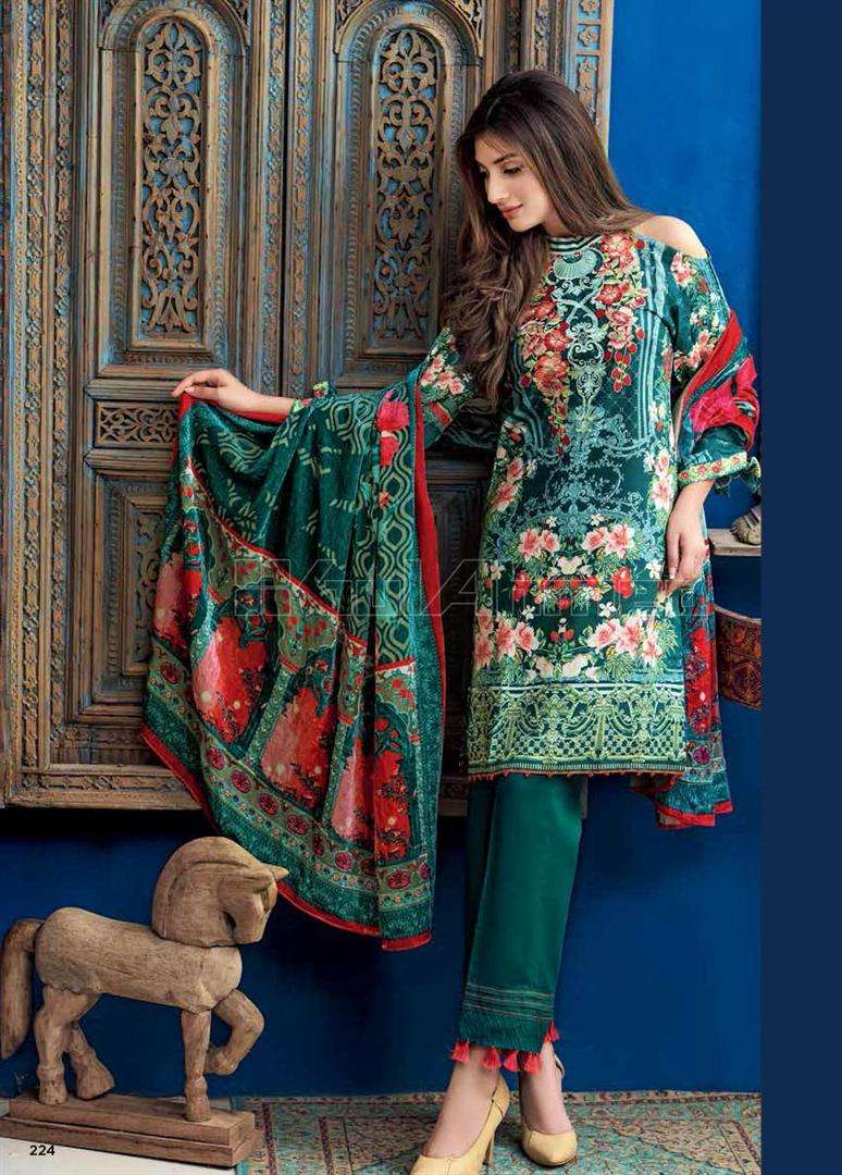 Gul Ahmed Embroidered Linen Unstitched 3 Piece Suit GL17W VL67