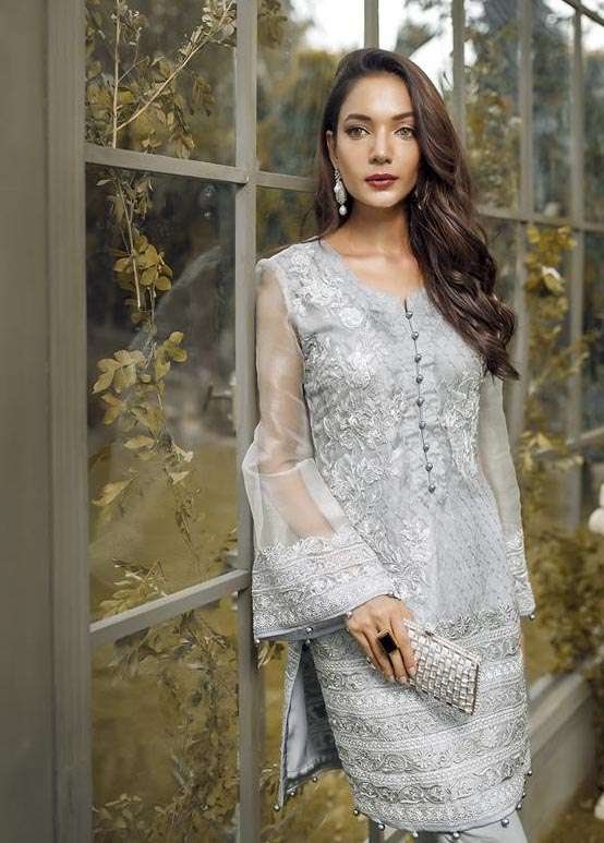Anahi by Gulaal Embroidered Katan Net Stitched 2 Piece Suit GLP17E 01