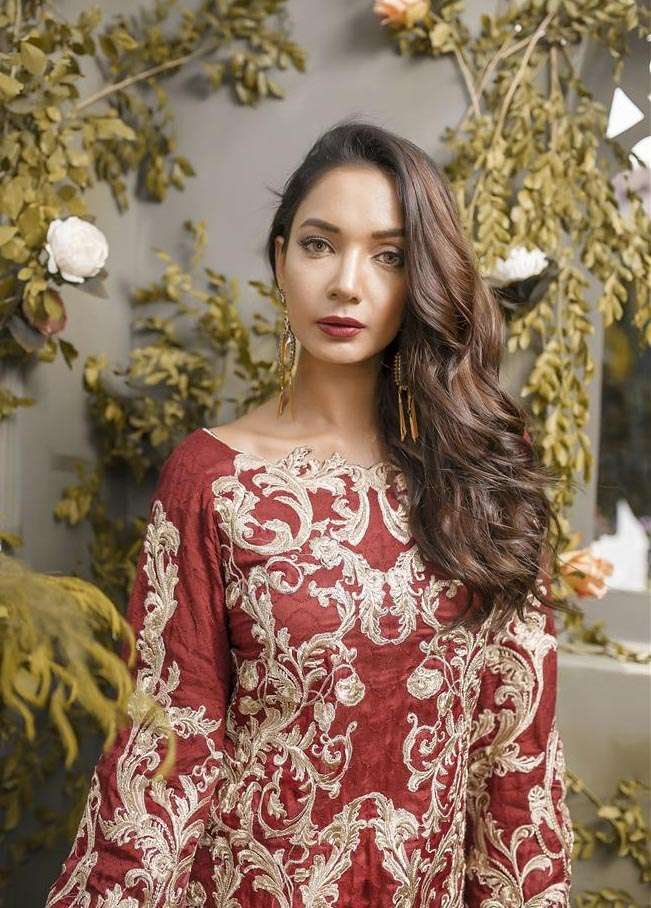 Anahi by Gulaal Embroidered Khaadi Net Stitched 2 Piece Suit GLP17E 04