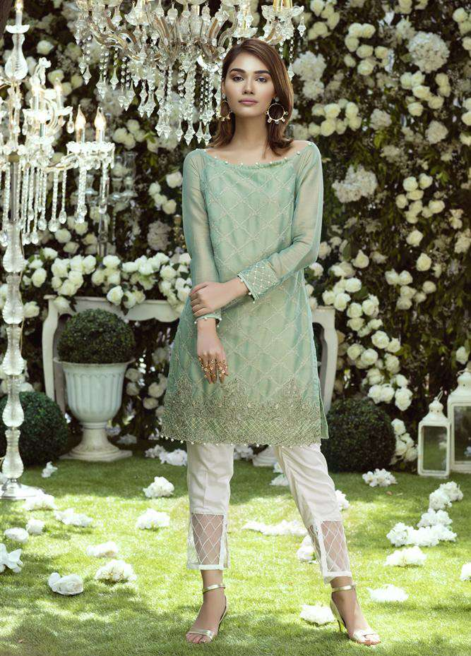 Anahi by Gulaal Embroidered Cotton Net Stitched Kurtis GLP17K 2B