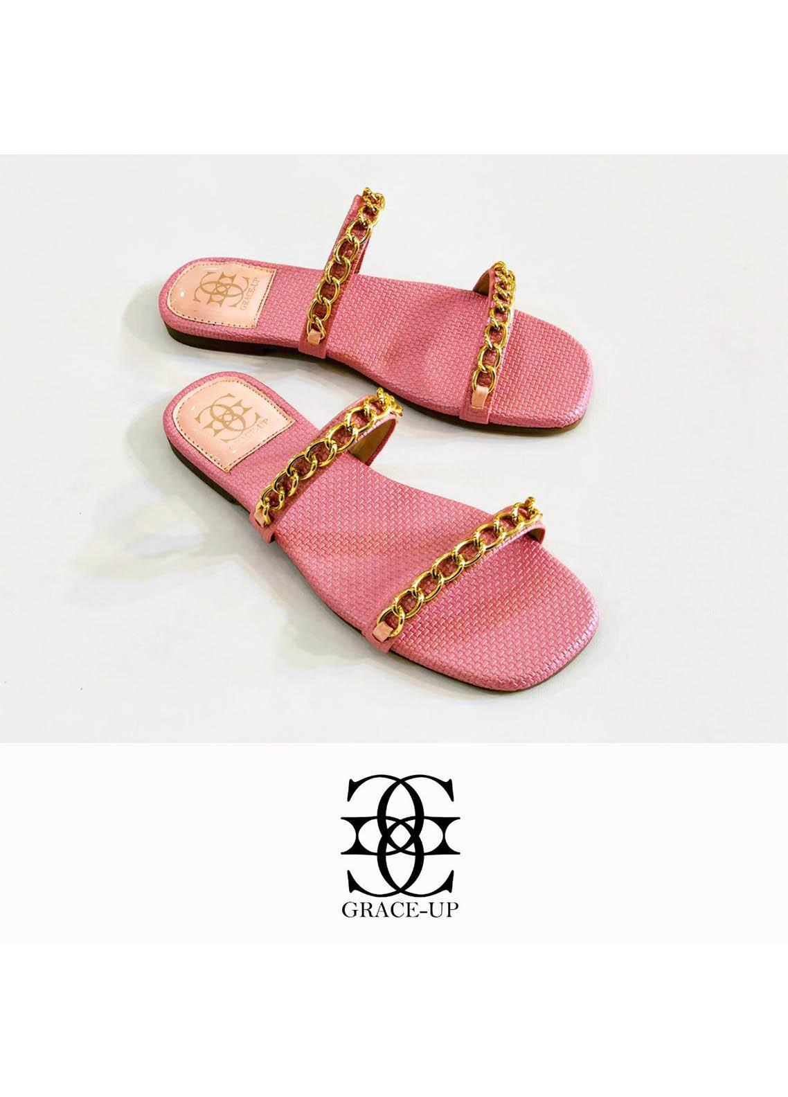 Grace Up Shoes Casual Style  Flat  0623 PINK