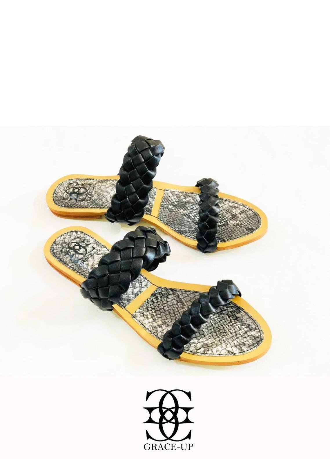 Grace Up Shoes Casual Style  Flats  632 BLACK