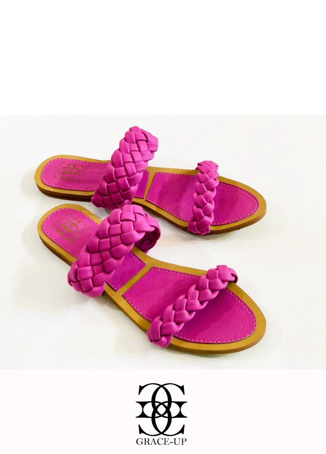 Grace Up Shoes Casual Style  Flats  632 PURPLE