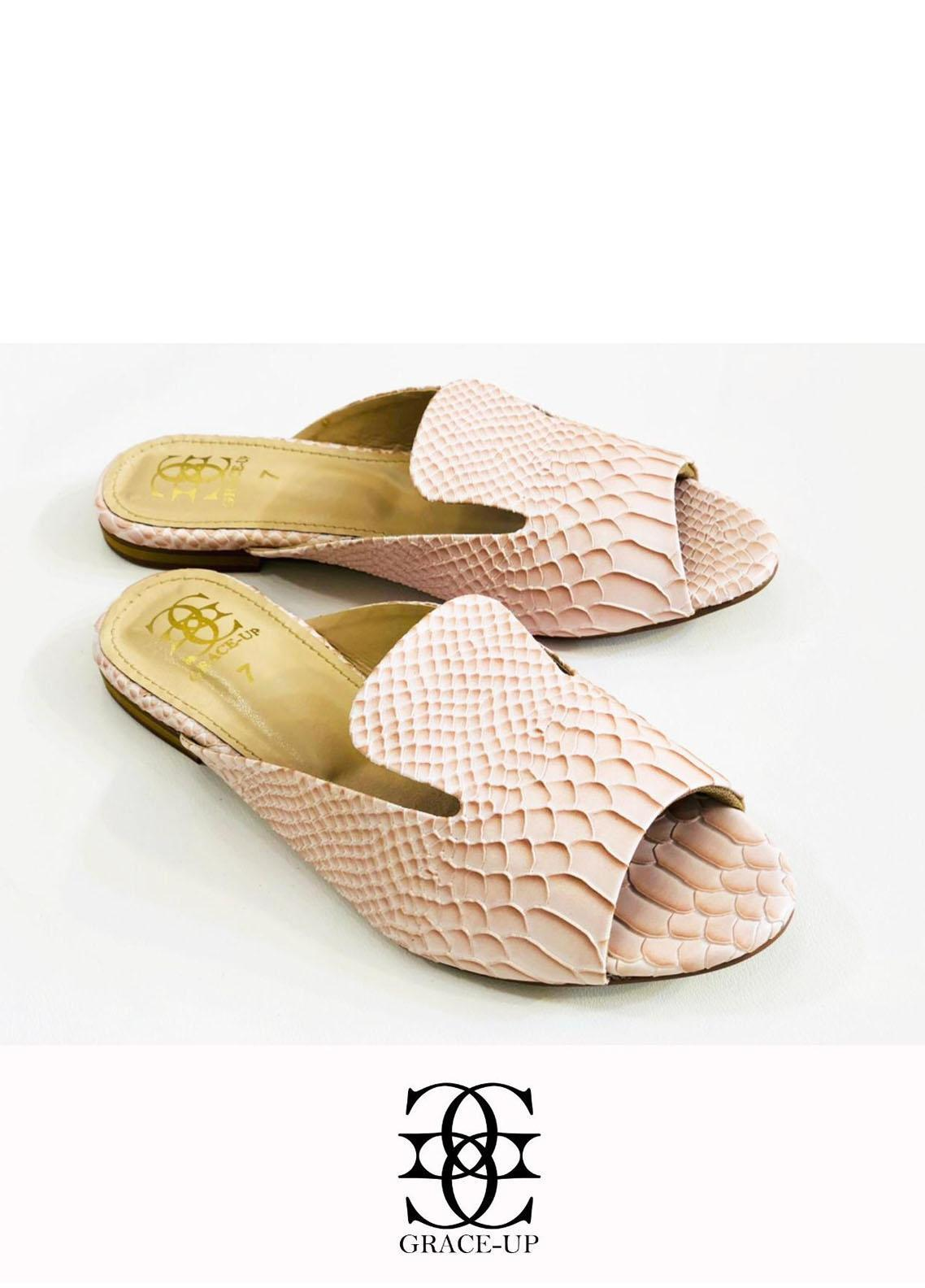 Grace Up Shoes Casual Style  Flats  633 PEACH