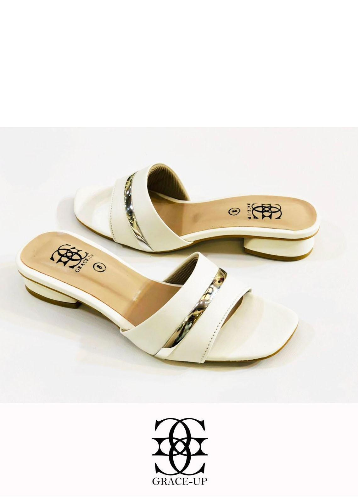 Grace Up Shoes Casual Style  Flat  629 White
