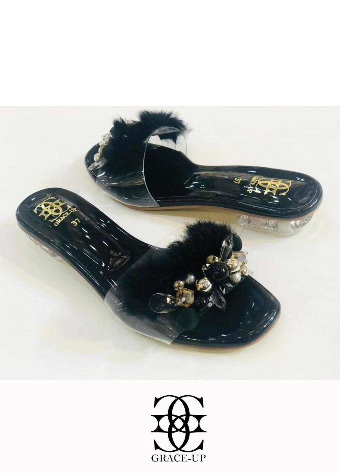 Grace Up Shoes Casual Style  Flat  717 Black