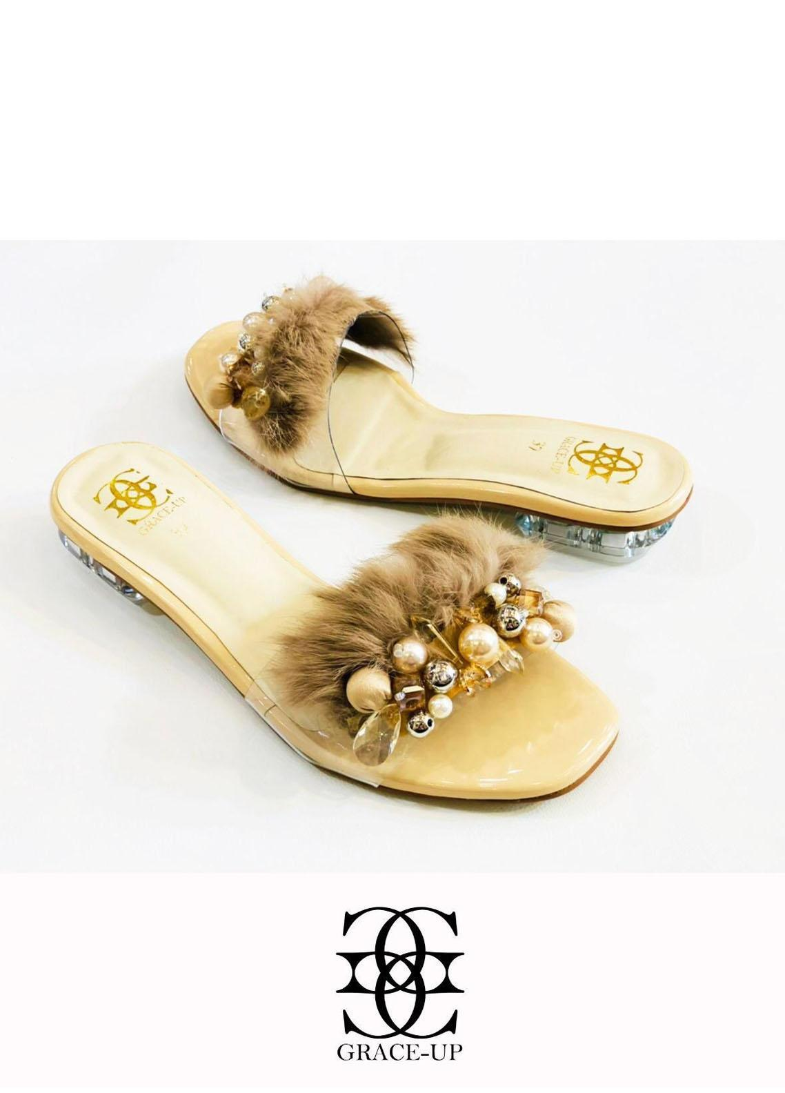 Grace Up Shoes Casual Style  Flat  717 Fawn