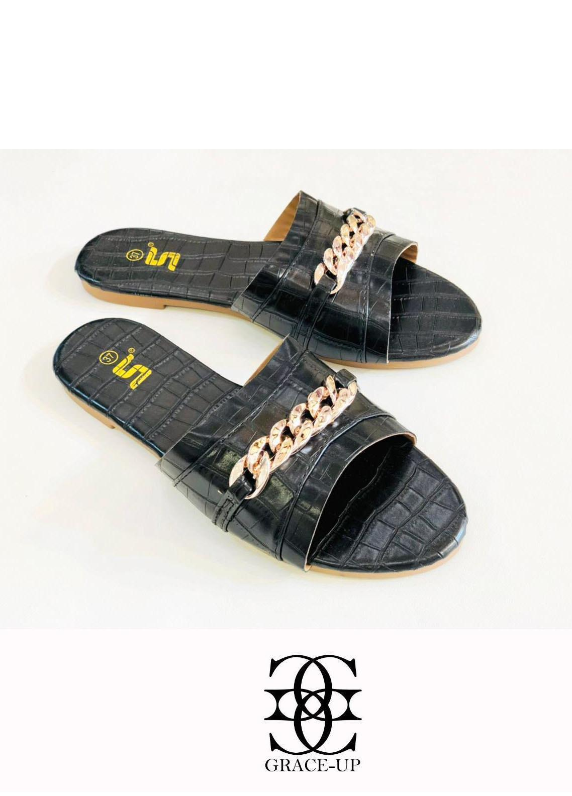Grace Up Shoes Casual Style  Flat  A333 BLACK