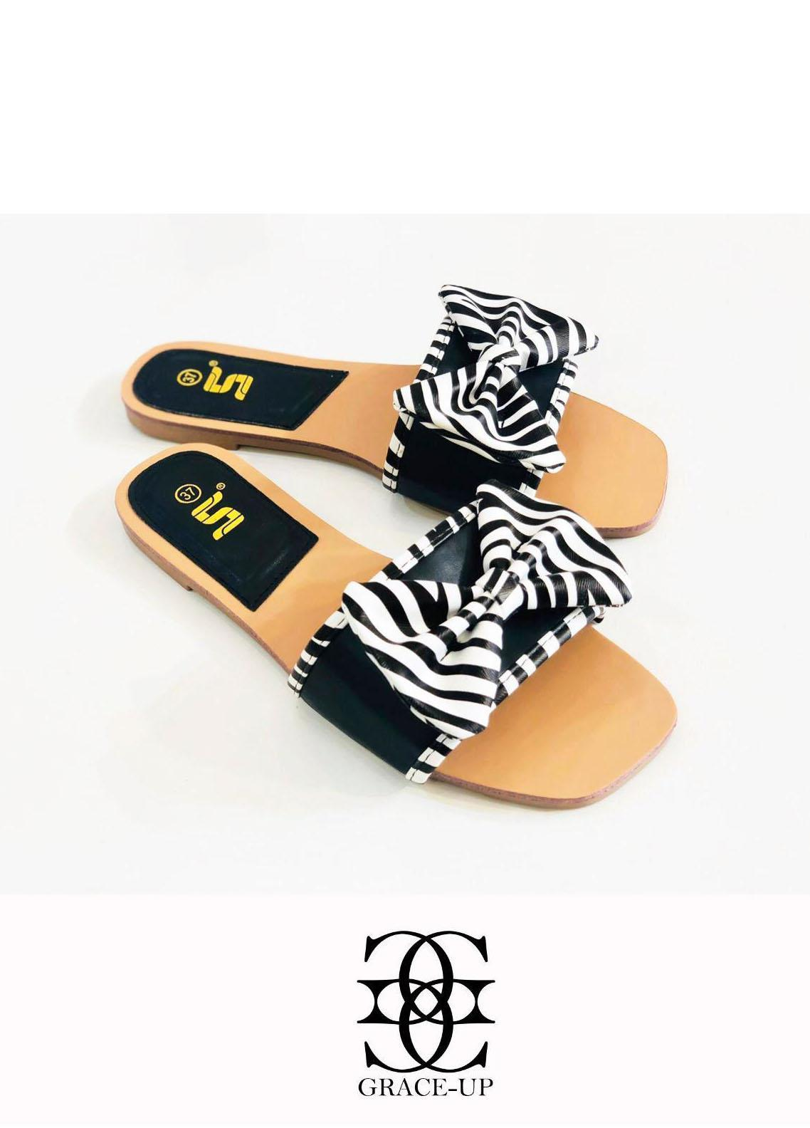 Grace Up Shoes Casual Style  Flat  A342 BLACK