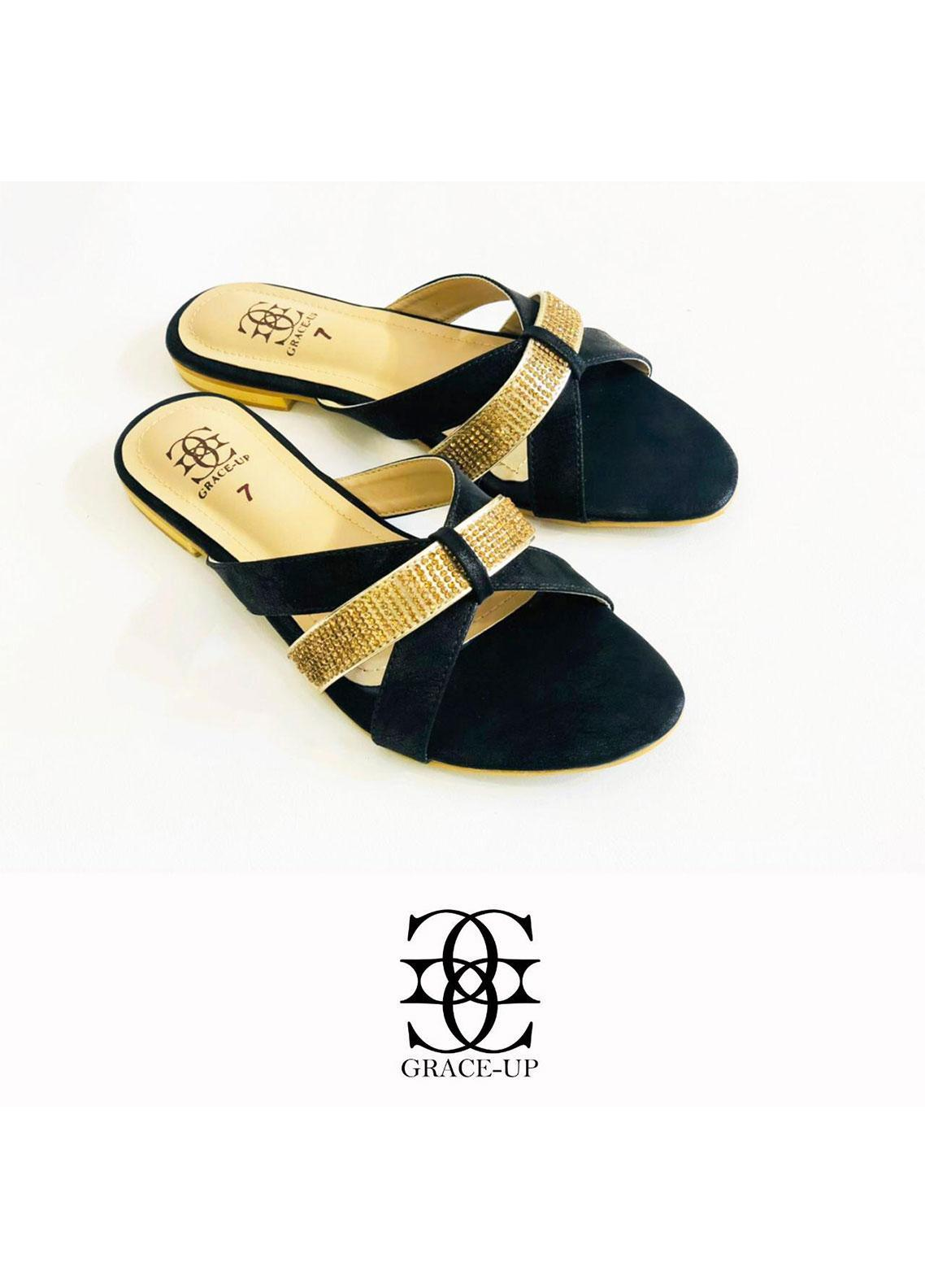 Grace Up Shoes Formal Style  Flat  0628-black