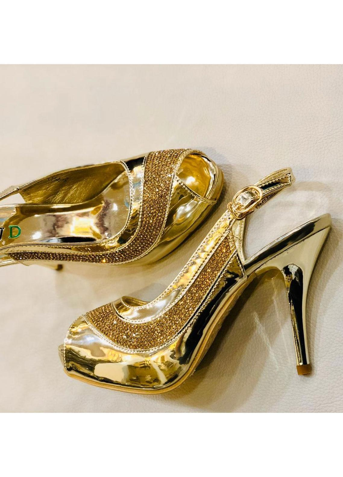 Grace Up Shoes Casual Style  Heel Shoes 597 GOLDEN