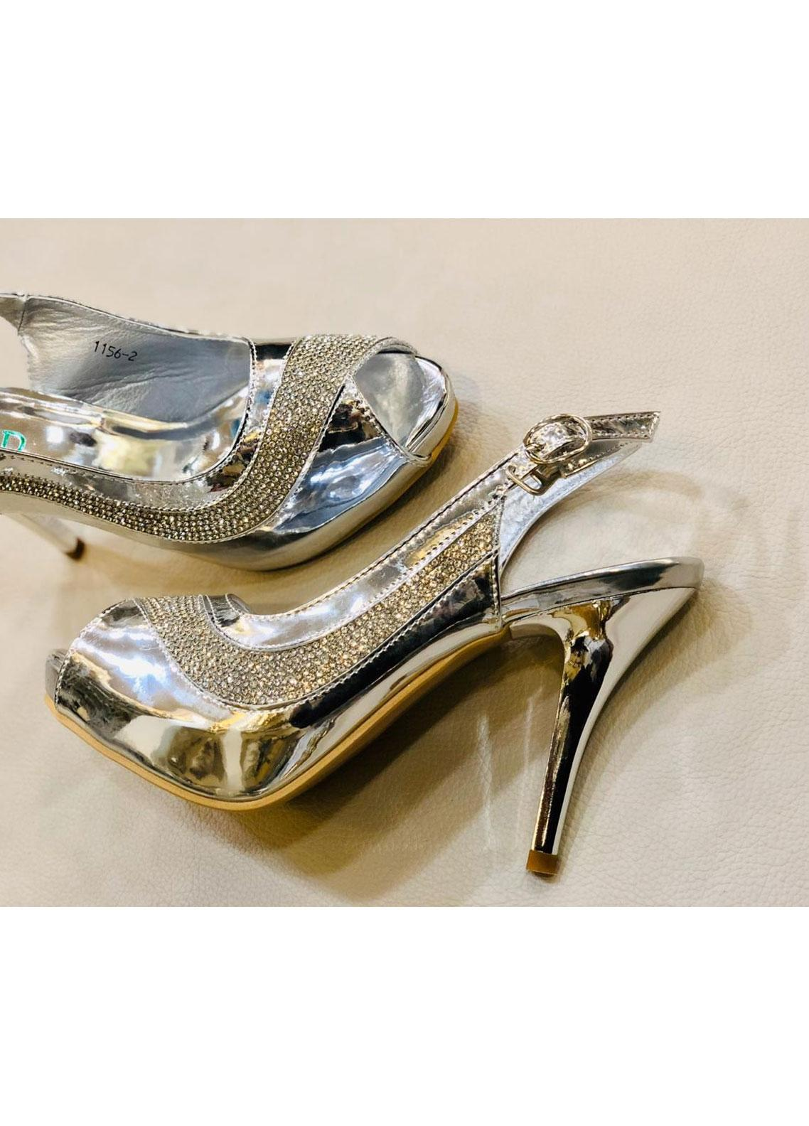 Grace Up Shoes Casual Style  Heel Shoes 597 SILVER