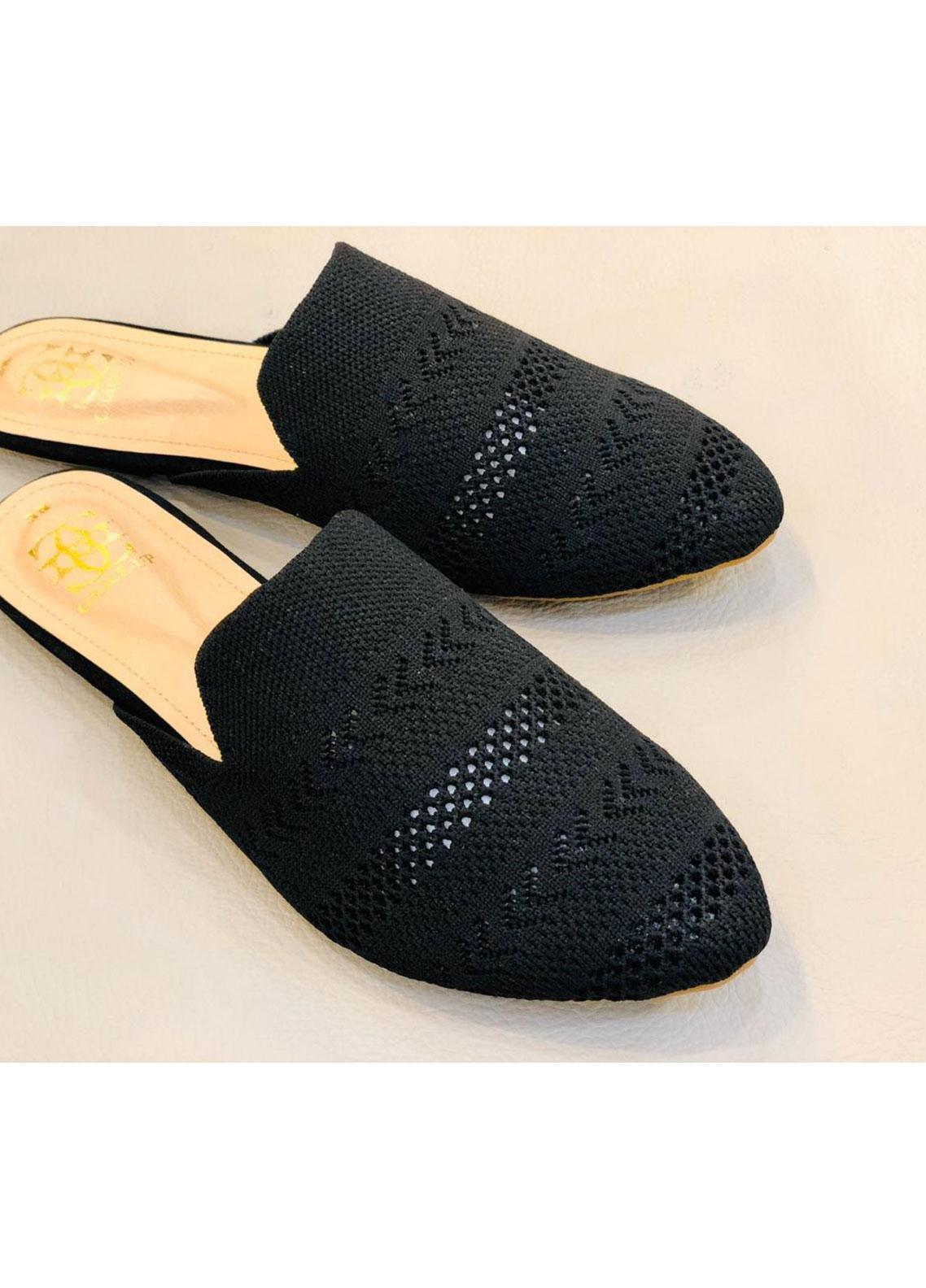 Grace Up Shoes Casual Style  Flat Shoes 682 BLACK