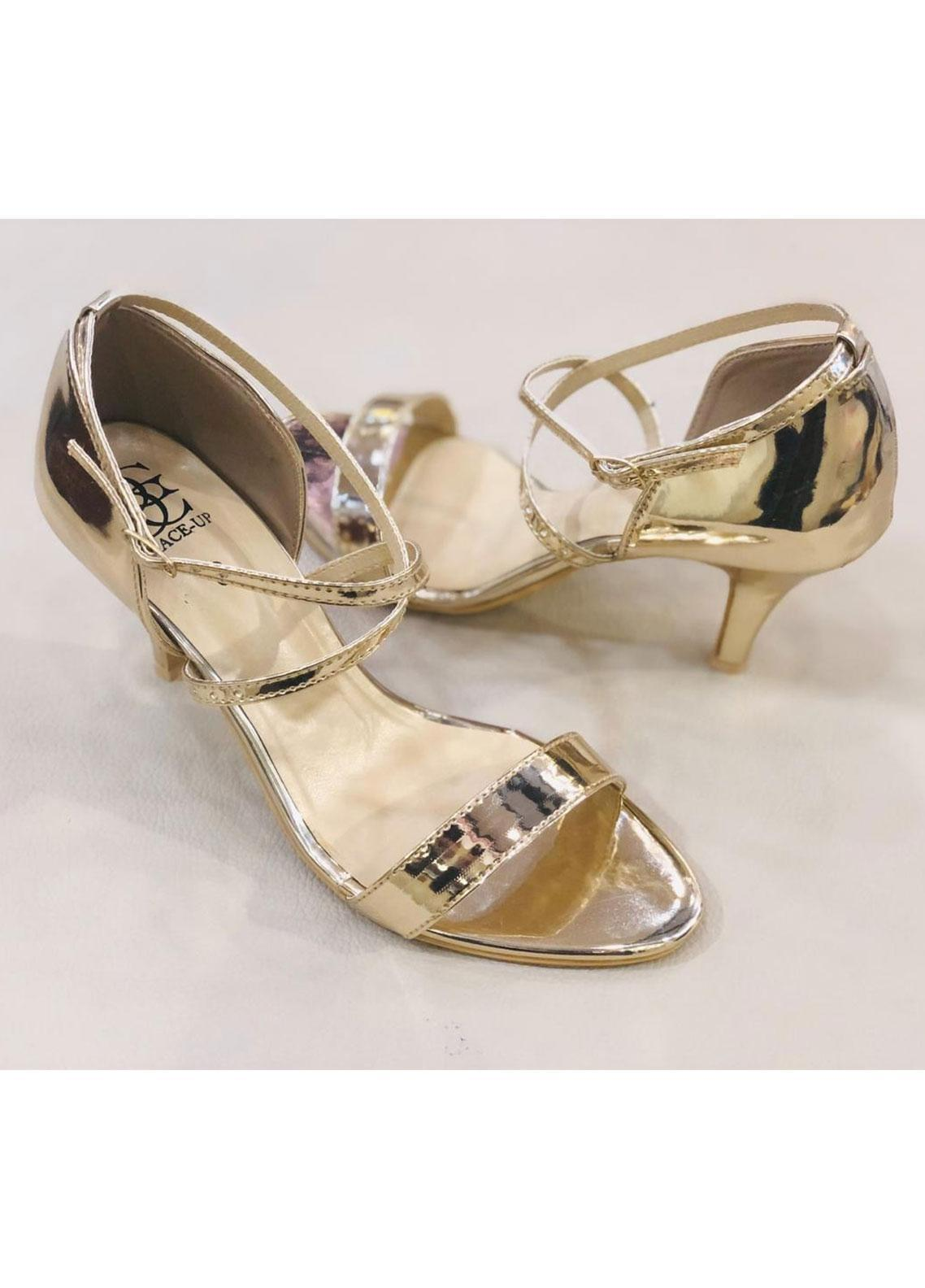 Grace Up Shoes Casual Style  Heel Shoes 967 GOLDEN