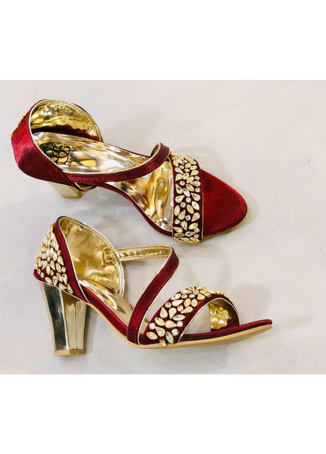 Grace Up Shoes Casual Style  Heel Shoes 973 MAROON