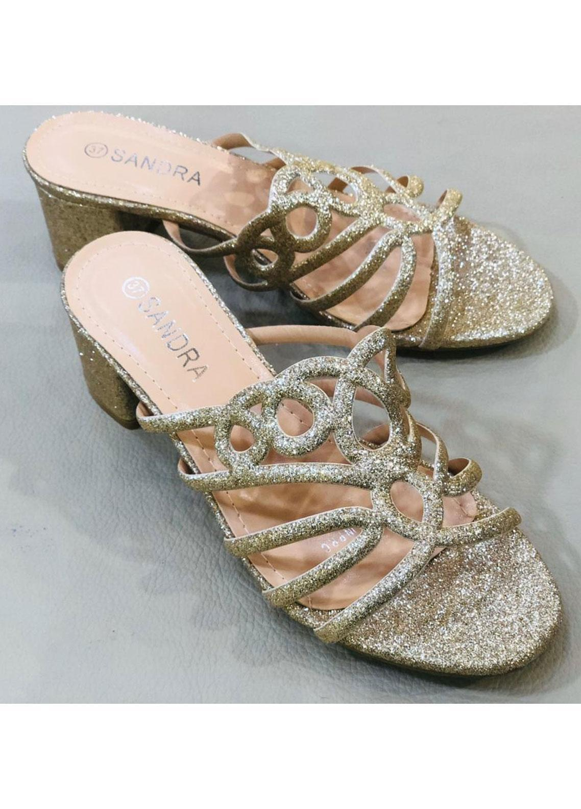 Grace Up Shoes Casual Style  Heel Shoes A228 GOLDEN