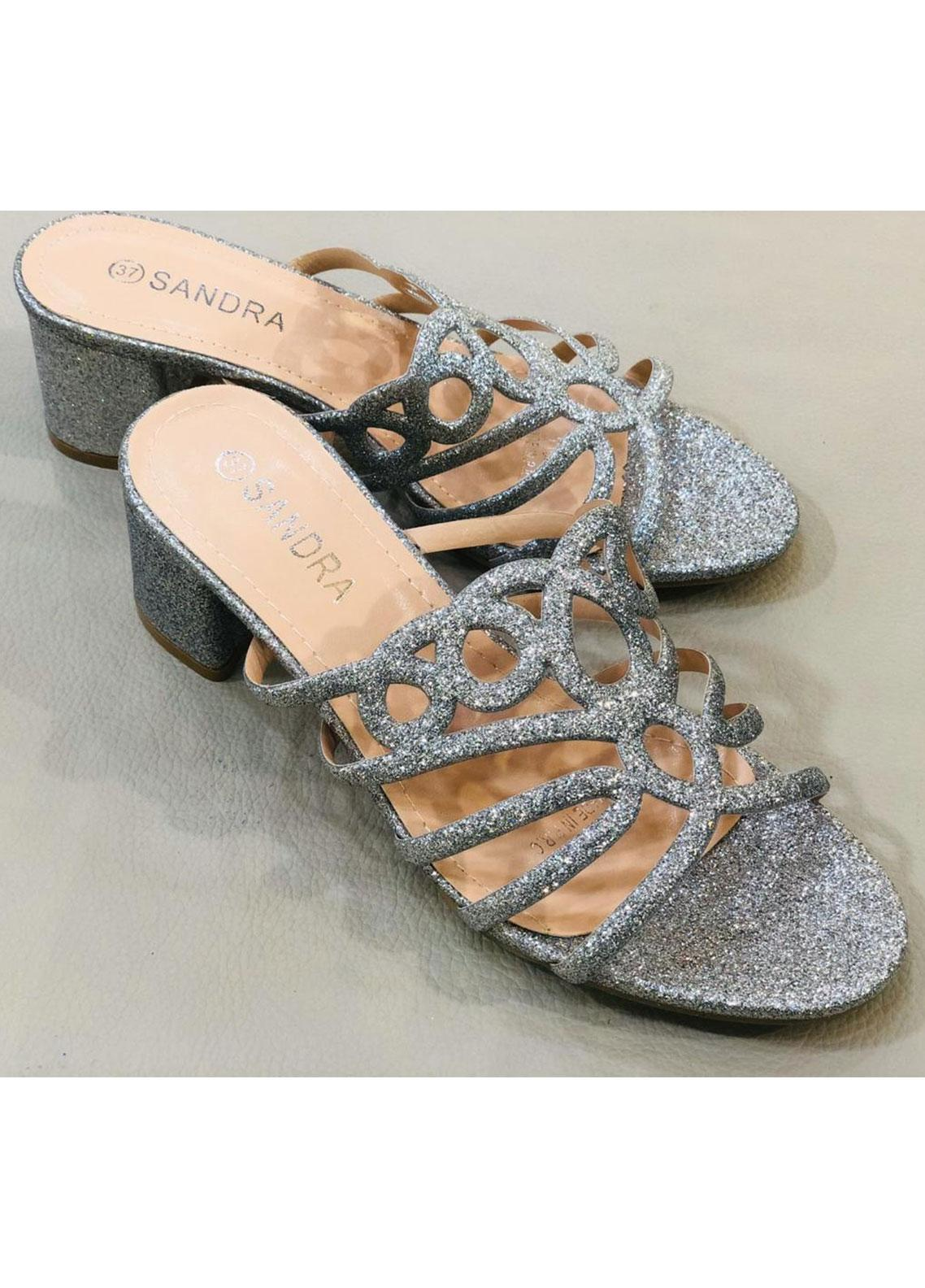 Grace Up Shoes Casual Style  Heel Shoes A228 SILVER