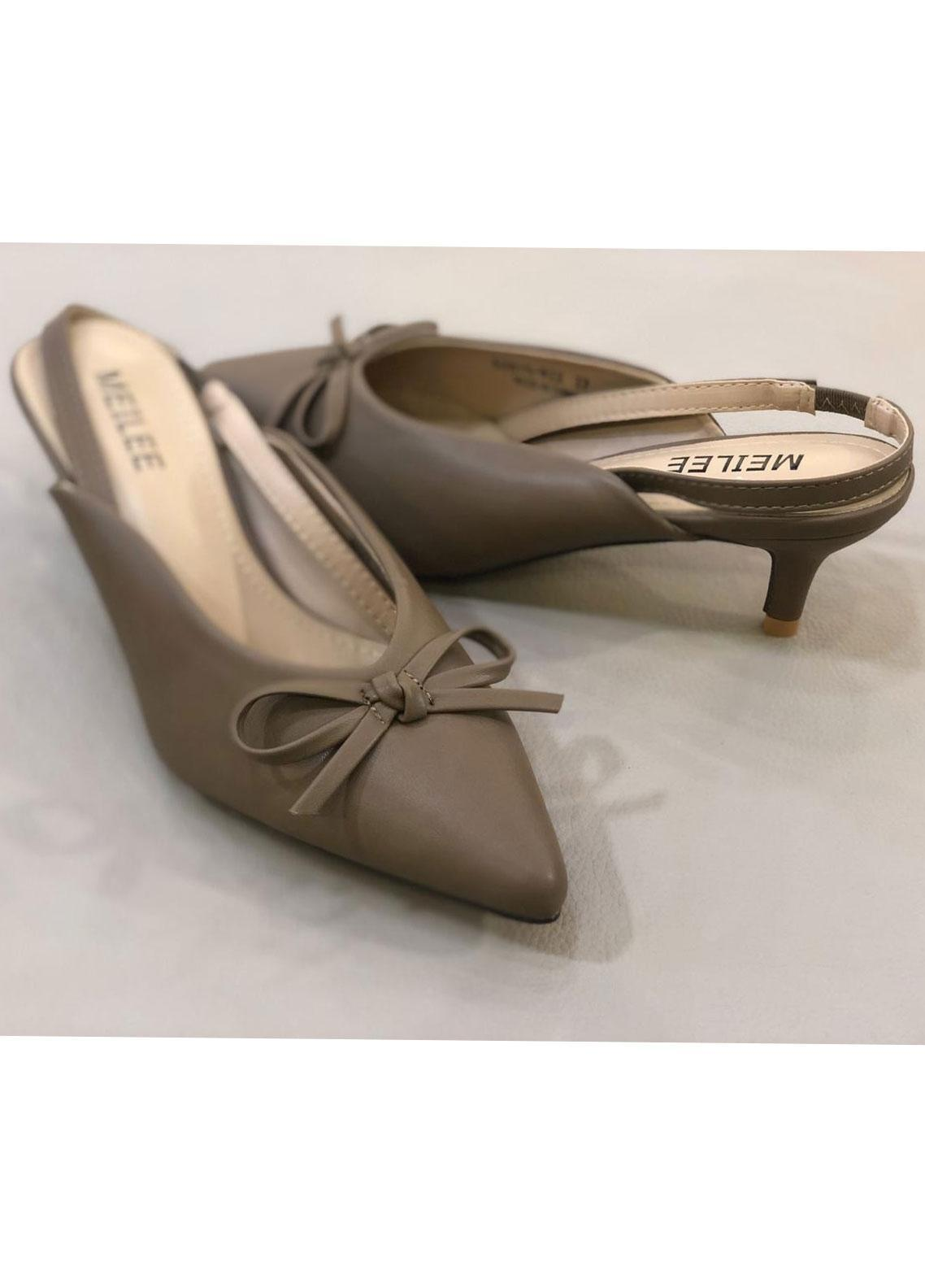 Grace Up Shoes Casual Style  Heel Shoes A253 BROWN