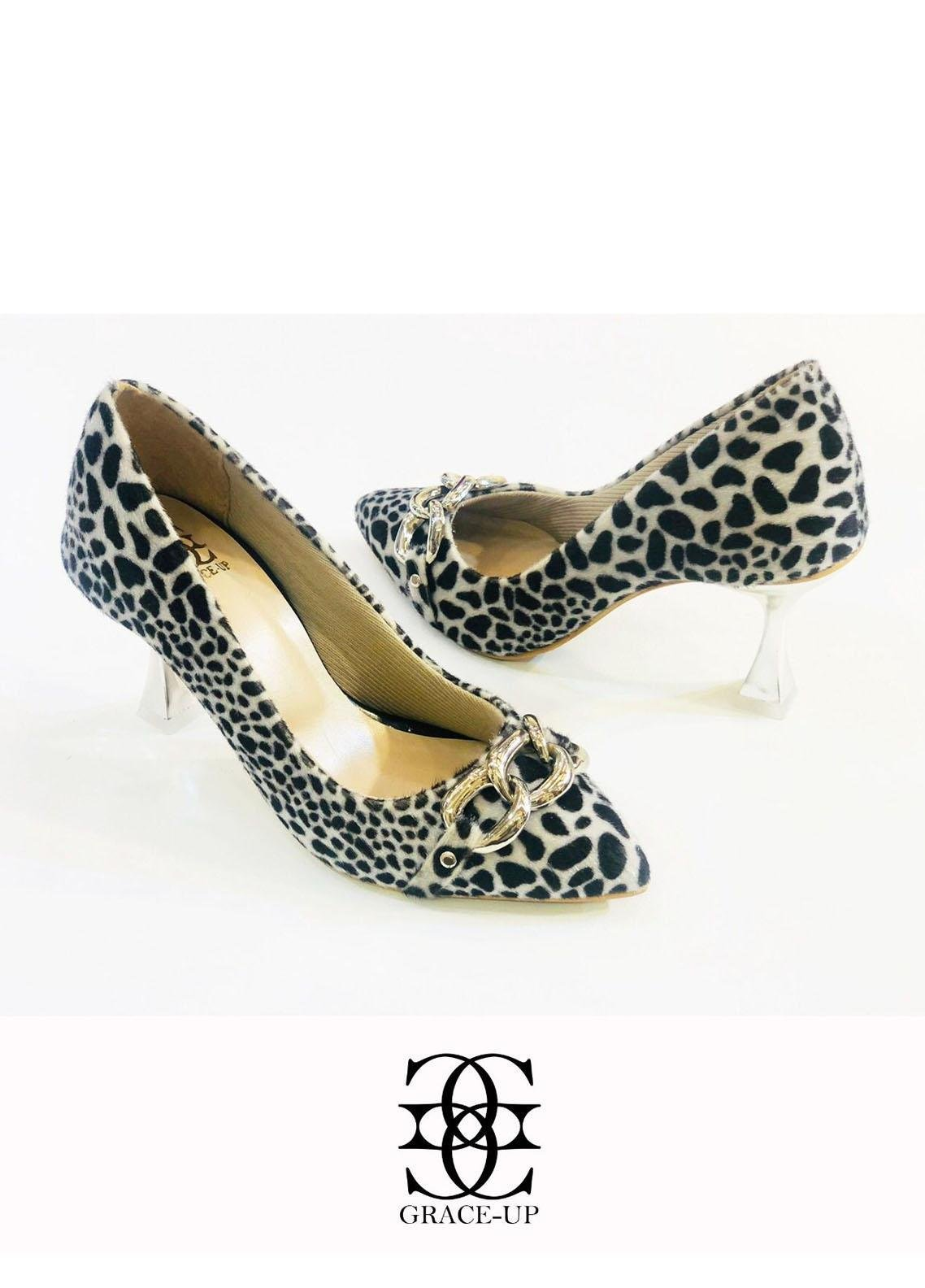 Grace Up Shoes Formal Style  Heels  O488 BLACK