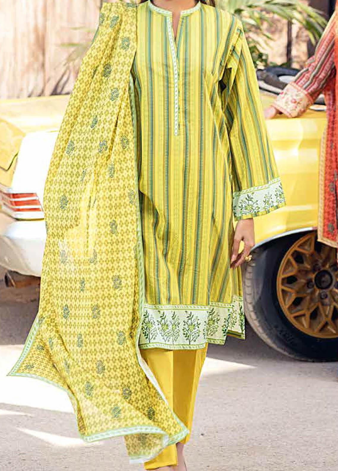 Gul Ahmed Printed Lawn Suits Unstitched 2 Piece GA21BL TL309B - Summer Collection
