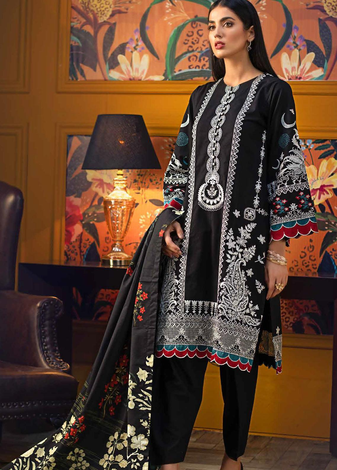 Gul Ahmed Embroidered Khaddar Suits Unstitched 3 Piece GA21WK K-12015 - Winter Collection