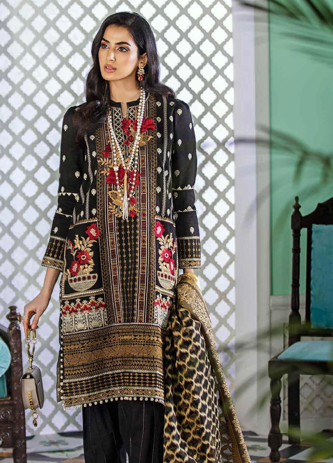 Gul Ahmed Embroidered Woven Unstitched 3 Piece Suit GA20FP 347 - Festive Collection