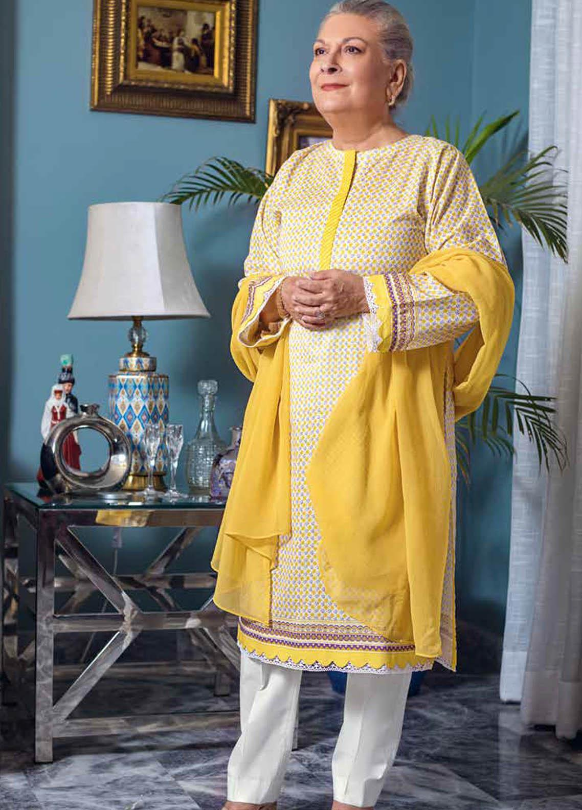 Gul Ahmed Printed Lawn  Unstitched Kurties GA21M SL-903 A - Summer Collection