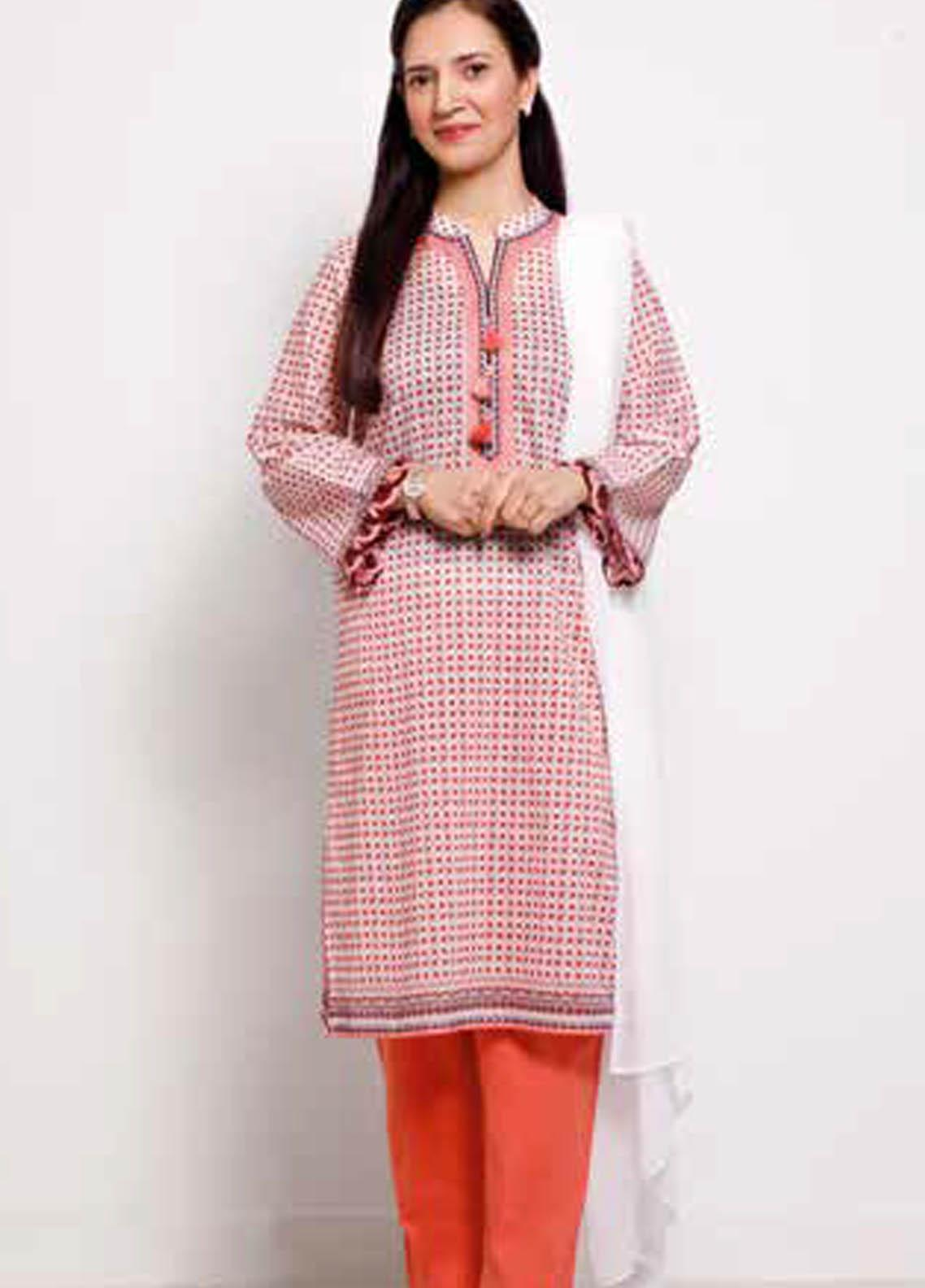 Gul Ahmed Printed Lawn  Unstitched Kurties GA21M SL-903 B - Summer Collection