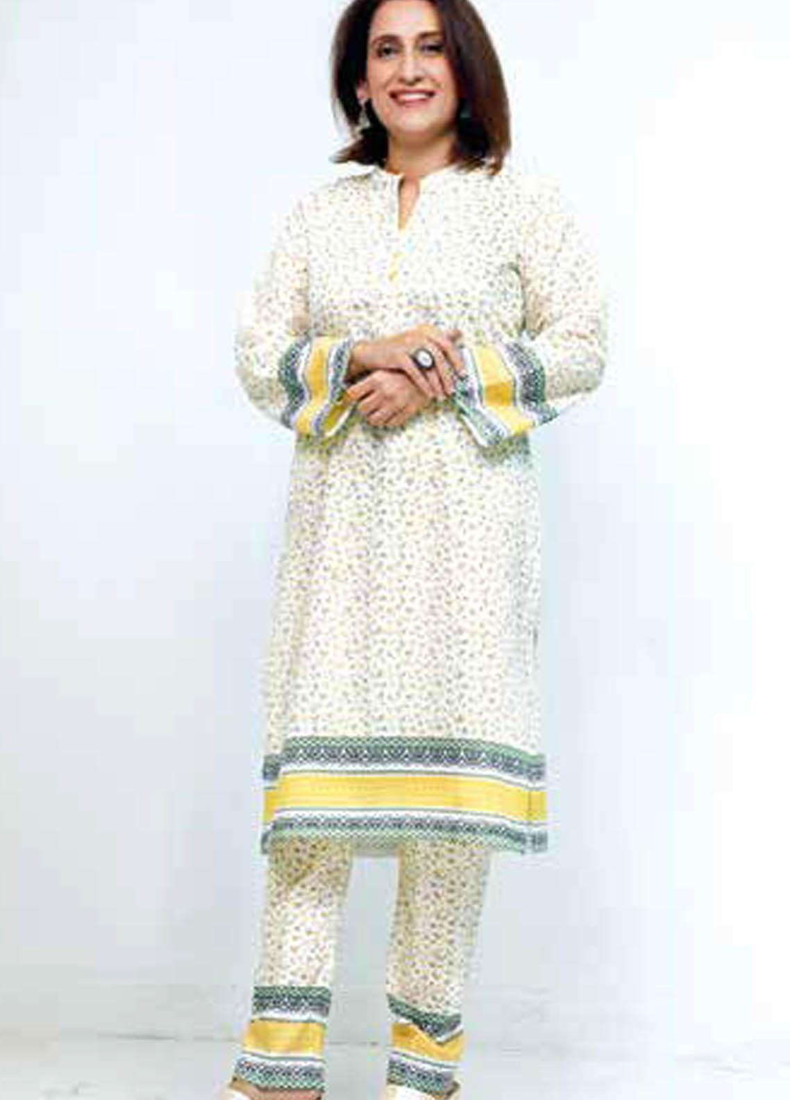 Gul Ahmed Printed Lawn  Unstitched Kurties GA21M SL-908 B - Summer Collection