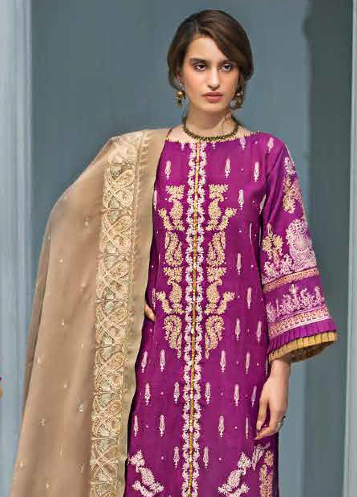 Gul Ahmed Embroidered Khaddar Unstitched 3 Piece Suit GA19PC APE 06 - Winter Collection