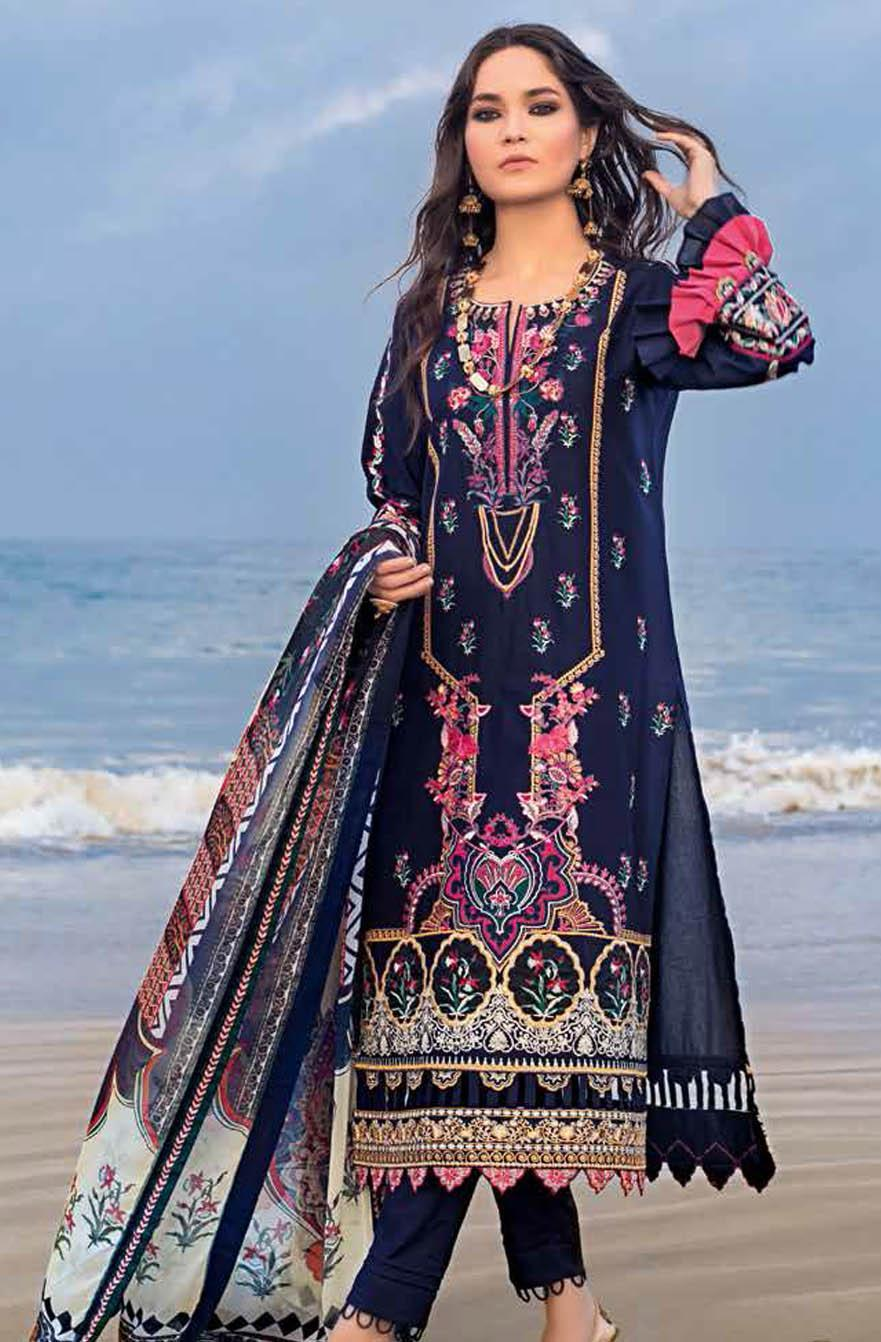 Gul Ahmed Embroidered Lawn Suits Unstitched 3 Piece GA21S BM 166 - Summer Collection
