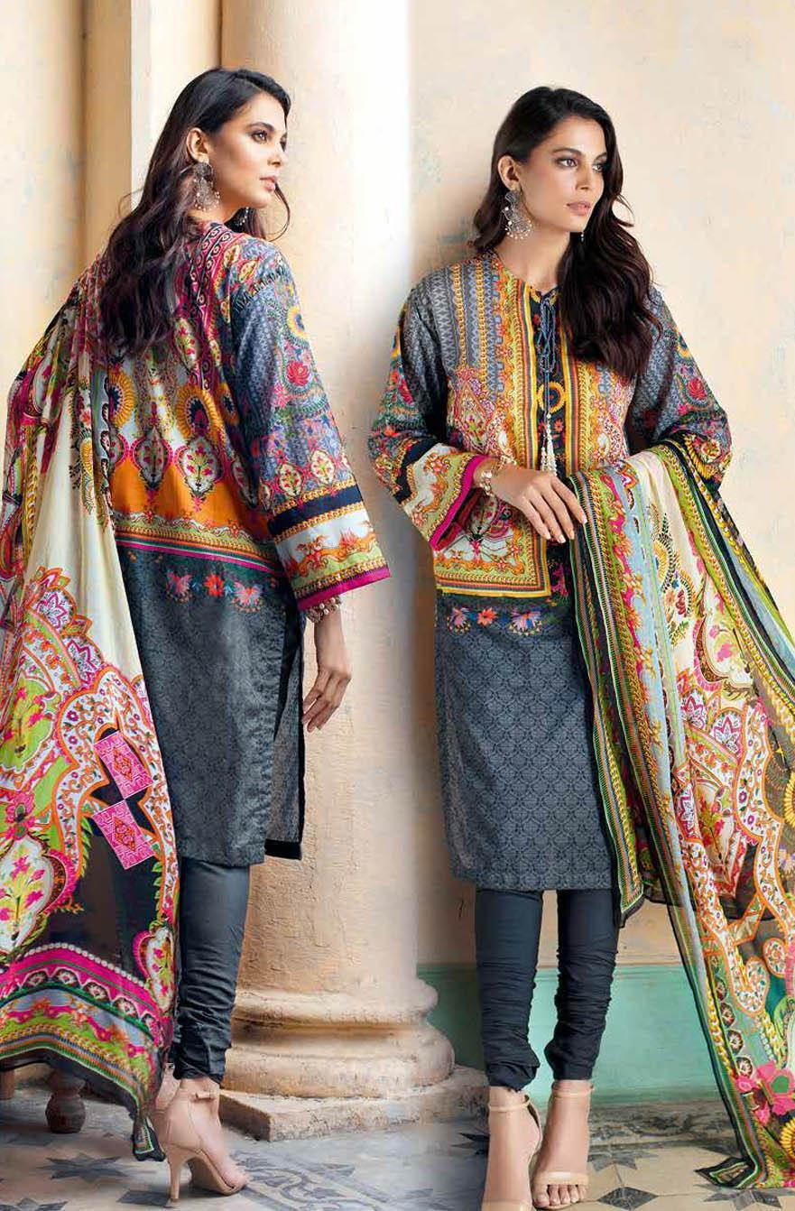 Gul Ahmed Printed Leno Suits Unstitched 3 Piece GA21S BM 170 - Summer Collection