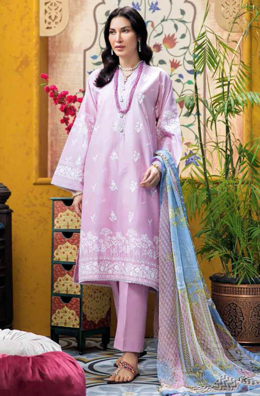 Gul Ahmed Embroidered Lawn Suits Unstitched 3 Piece GA21S C 521 - Summer Collection