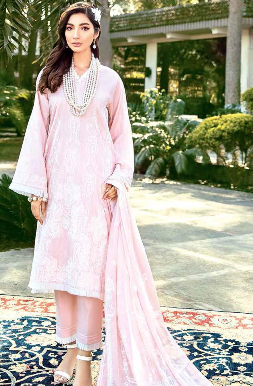 Gul Ahmed Embroidered Satin Suits Unstitched 3 Piece GA21S FE 263 - Summer Collection