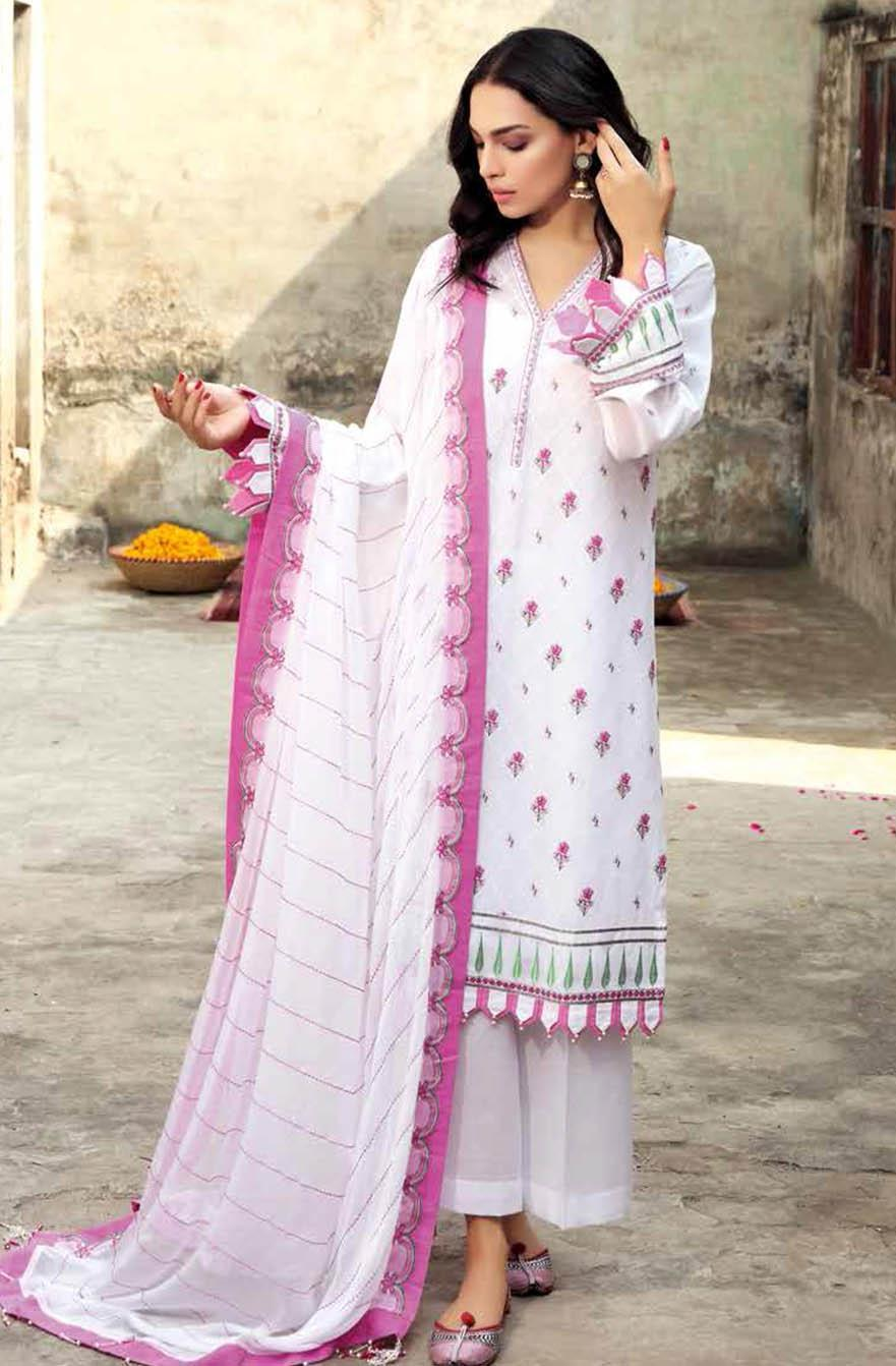 Gul Ahmed Embroidered Swiss Voile Suits Unstitched 3 Piece GA21S FS 06 - Summer Collection