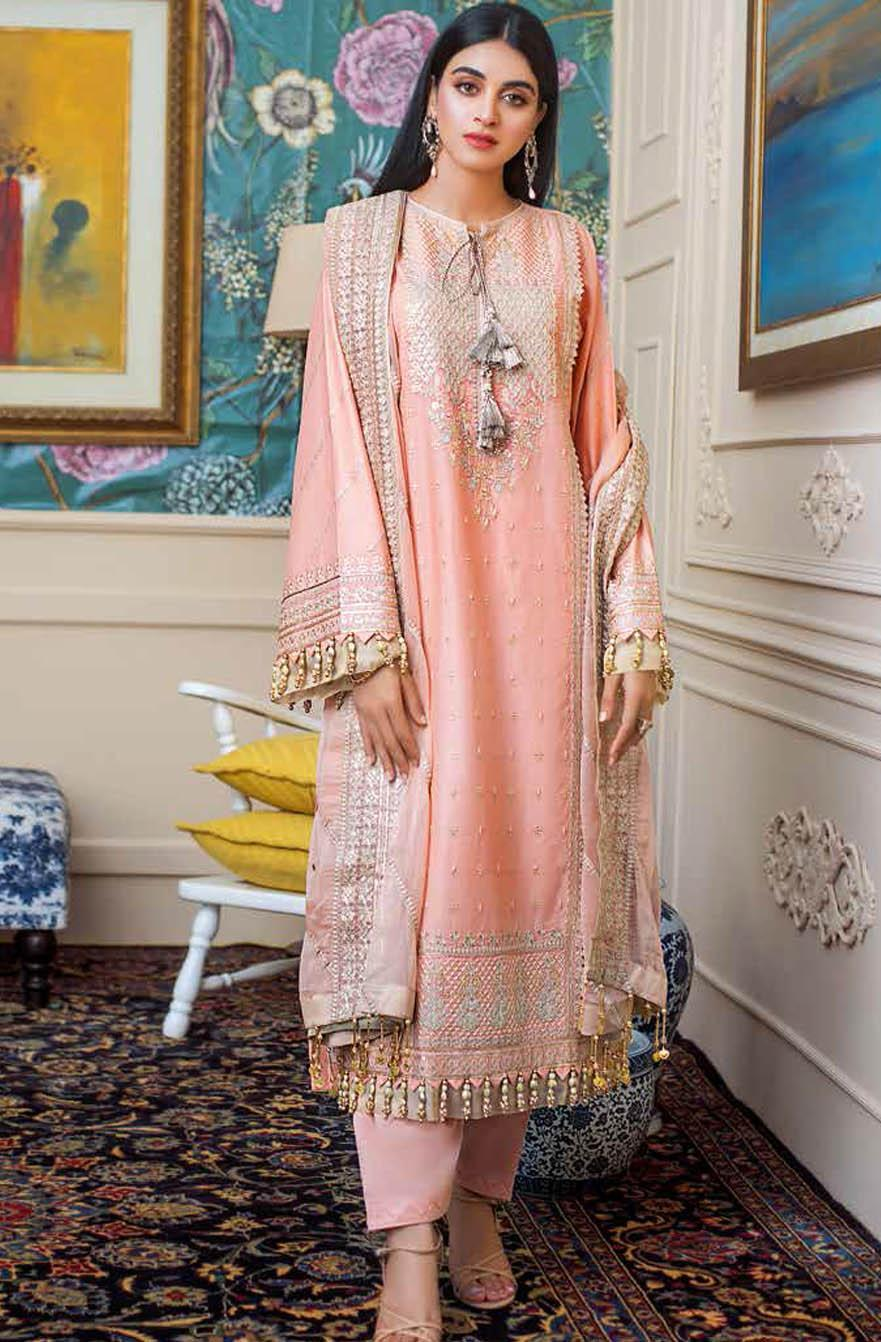 Gul Ahmed Embroidered Lawn Suits Unstitched 3 Piece GA21S FS 40 - Summer Collection
