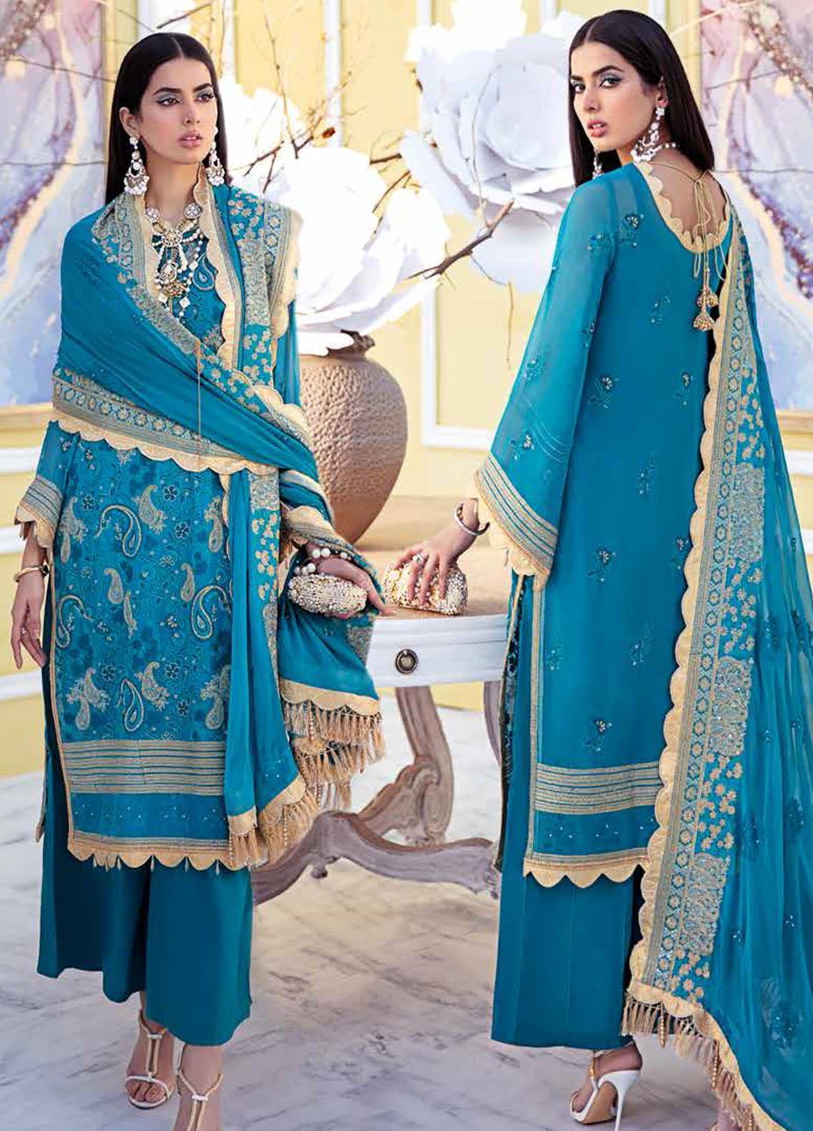 Gul Ahmed Embroidered Chiffon Suits Unstitched 3 Piece GA21S LE 25 - Summer Collection