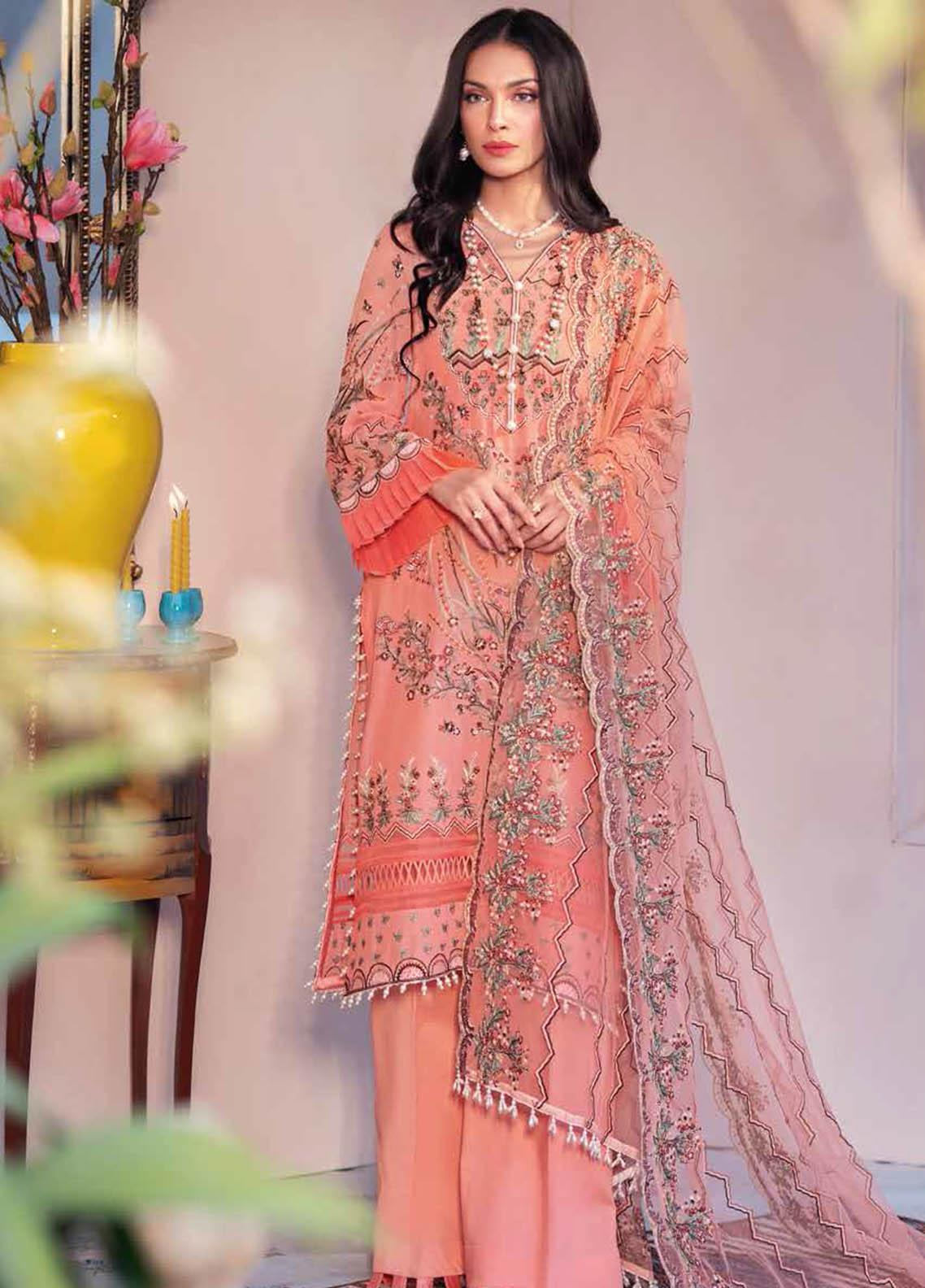 Gul Ahmed Embroidered Swiss Voile Suits Unstitched 3 Piece GA21S LSV 42 - Summer Collection