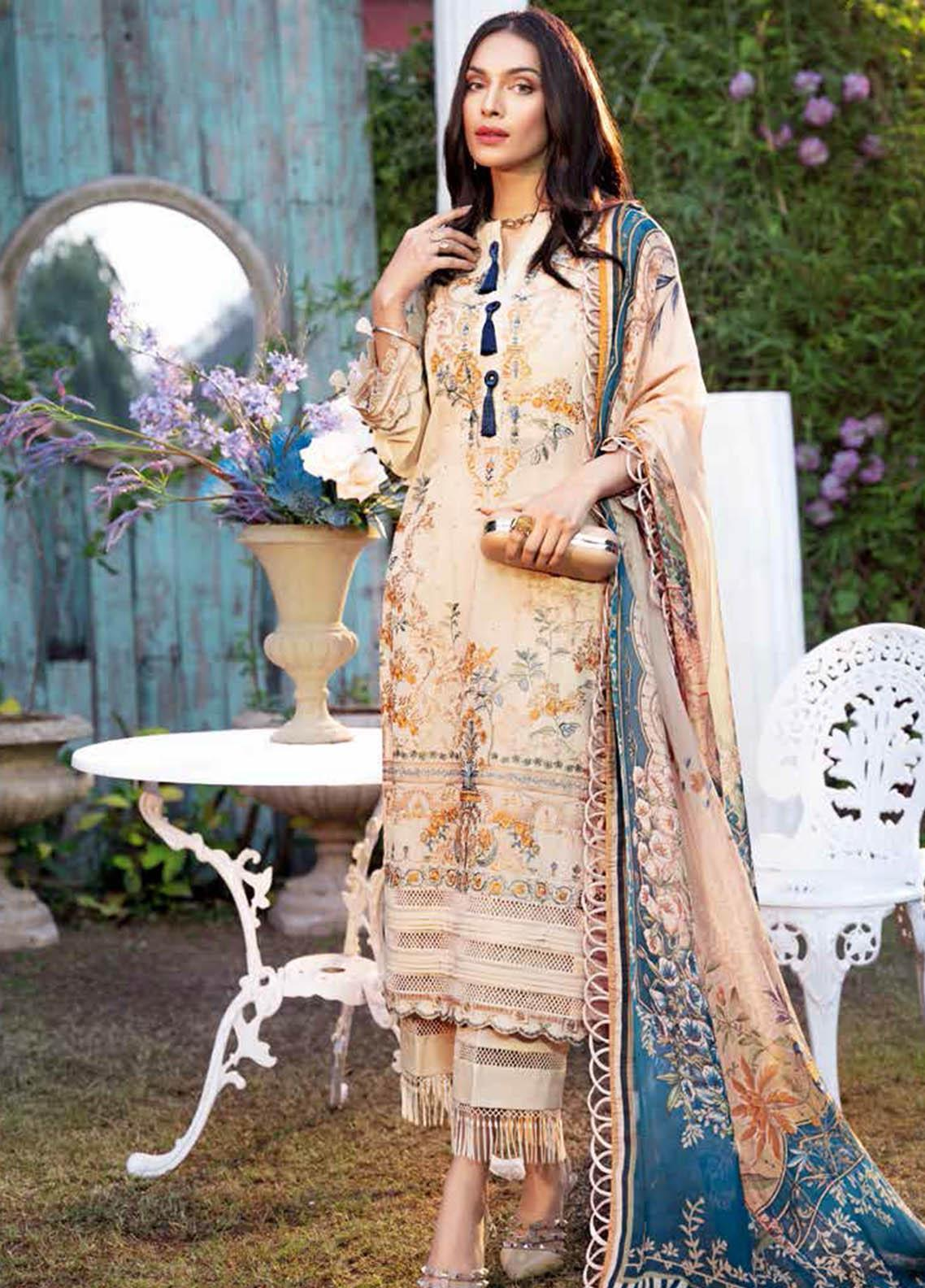 Gul Ahmed Embroidered Swiss Voile Suits Unstitched 3 Piece GA21S LSV 45 - Summer Collection