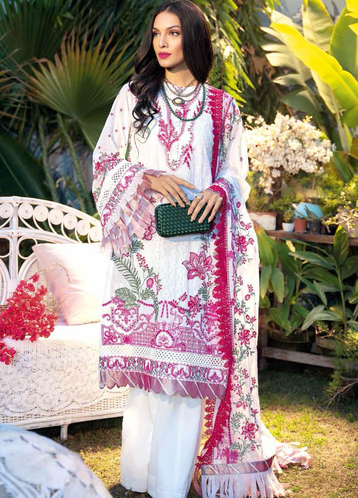 Gul Ahmed Embroidered Swiss Voile Suits Unstitched 3 Piece GA21S LSV 46 - Summer Collection